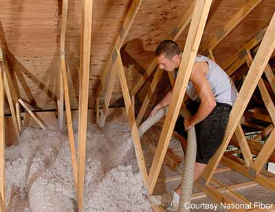 Diy cellulose insulation