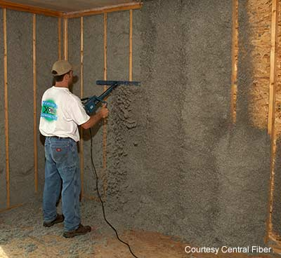 Cellulose insulation the abcs of green building materials planetsave sprayed cellulose installation with moisture added credit cima solutioingenieria Choice Image
