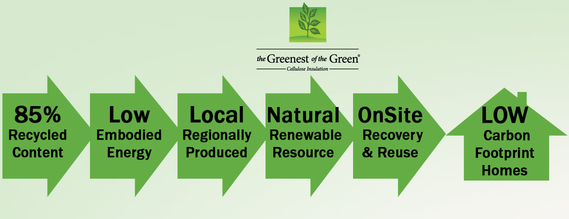Cellulose Insulation Eco-friendly benefits graphic 00