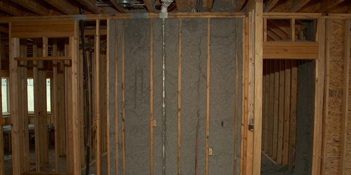 Wall sealed with Cellulose Insulation2050